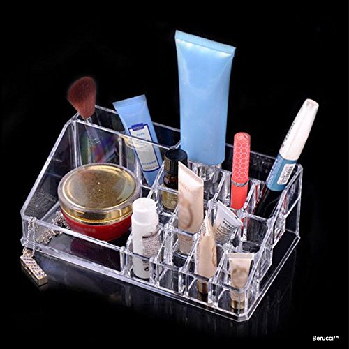 BerucciTM Clear Acrylic Jewelry Makeup Cosmetic Organizer Import