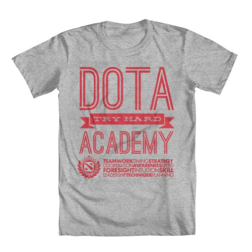 GEEK TEEZ Try Hard Academy Men's T-Shirt Gray Large
