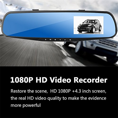 Lens Indicator 001 (Soter Car Video Recorder Camera with Dual Lens for Vehicles Front & Rearview Mirror Car DVR Camera 1080P FHD with 32G Class 10 Kinston Micro SD)