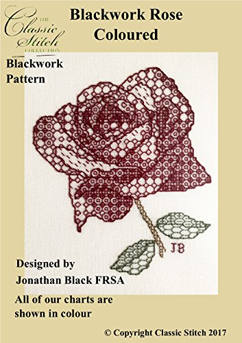Blackwork Rose - 1