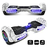 cho Spider Wheels Series Hoverboard UL2272 Certified Hover Board with 6.5 inch Wheels Electric Scooter Smart Self Balancing Wheels (White)