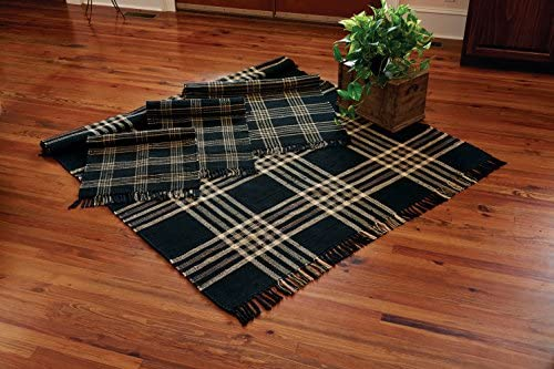 Park Designs Black Coffee Rag Rug 24X42