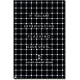 Flashing Black Spots Poster Optical Illusion 1361