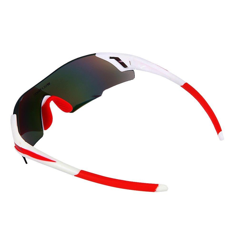 Lixada Lunettes de Soleil de VTT Sport Adulte Coupe-Vent UV Protection en Plein Air pour Le Moto Le Cyclisme