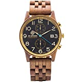 AB Aeterno Ianus Chrono Nux Walnut Wood 42mm Men's Vegan Quartz Watch CHR_NUX