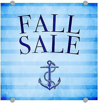 Nautical Stripes Premium Acrylic Sign CGSignLab 16x16 Fall Sale 5-Pack