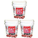 JT Eaton 709-AP Bait Block Rodenticide Anticoagulant Bait, Apple Flavor, For Mice and Rats (Pail of 144), 3 Buckets