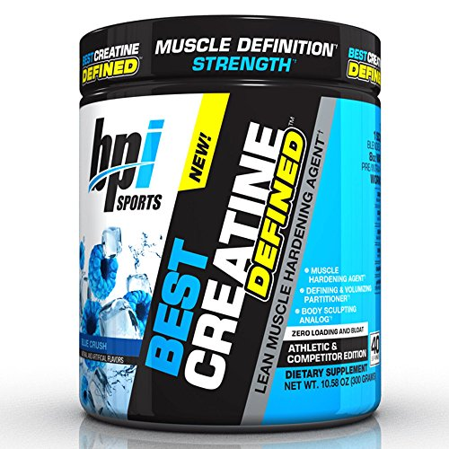BPI Sports -Creatine Defined Lean Muscle Hardening Agent, Blue Crush, 10.58 Ounce, 40 Servings,