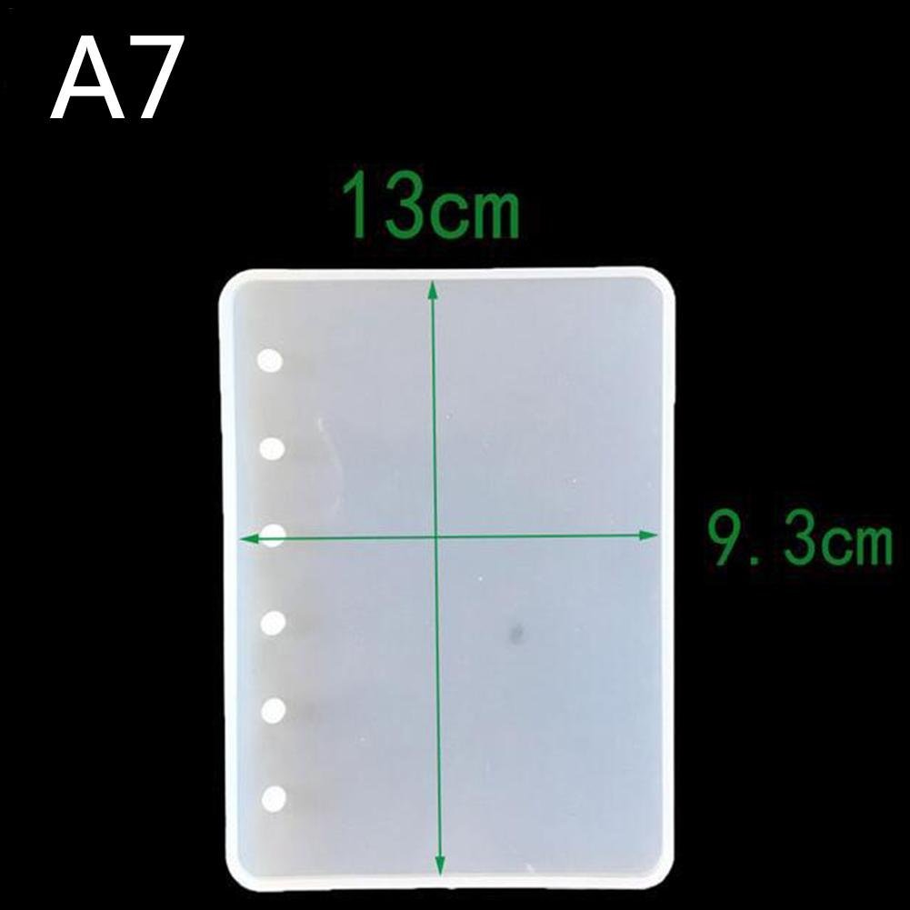 softwind A7/A6/A5 DIY Notebook Shape Silicone Mold Resin Book Mold Crystal Epoxy Silicome Mold Transparent Book Cover Molds Making 无