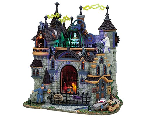 Lemax Spooky Town Village Frankenstein's Laboratory Animated Building #75501 ()