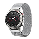 Outsta For Garmin Fenix Chronos Milanese Magnetic Loop Stainless Steel Band Silver