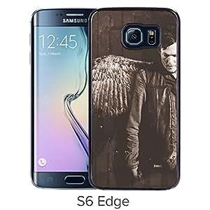 Genuine Daryl Dixon Black Samsung Galaxy S6 Edge Screen Cellphone Case Handmade and Luxurious Cover