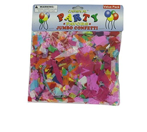 Jumbo paper confetti-Package Quantity,144 by carnival party favors
