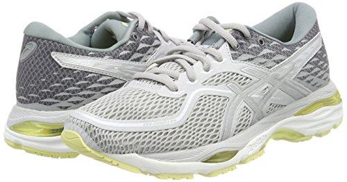 Light Running 9693 De 19 Asics bleu silver Glacier Grey Femme cumulus Gel lime Chaussures Gris n6nfIXOwqp