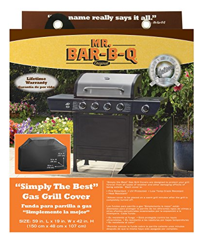 "Mr. BBQ Platinum Prestige Large Grill Cover – Helps Prevent Cracking and Rusting – Waterproof Material – UV Protection – Snow and Rain Protection – Heat and Flame Resistant – 68""x 21""x 42"" Review"