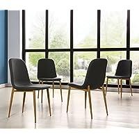 IDS Online MLM-18608-4C 4PCS Dining Chair Set Metal Leg