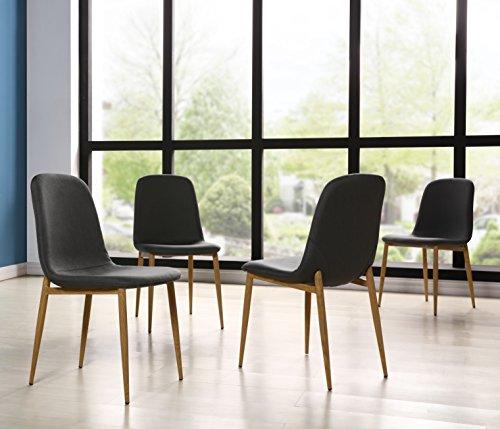 IDS Online MLM-18608-4C 4PCS Metal Leg Dining Chair Set