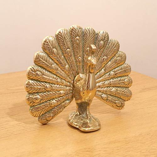 - Restored by UkaVintage Vintage Solid Brass Peacock || Bird Statue