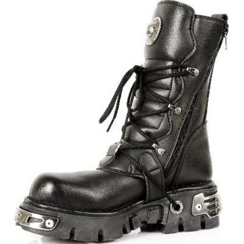 Style S4 Black 41 EU New 373 Rock Boots 4xBfER