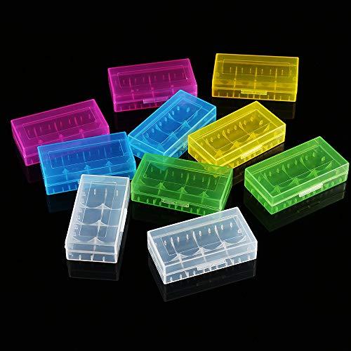 Mugast 10PCS 18350/18650 Battery Case, 5 Colors Plastic Battery Storage Box, Made of PP Raw Materials by Mugast (Image #4)