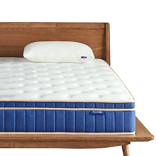 tress in a Box - 8 Inch Individually Pocket Spring Hybrid Mattresses,Gel Memory Foam Euro Pillow Top for Sleep Cool,Pressure Relief & Supportive,CertiPUR-US Certified,Queen Size ()