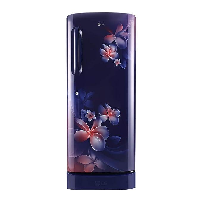 LG 235 L 5 Star Inverter Direct Cool Single Door Refrigerator (GL-D241ABPY, Blue Plumeria) Refrigerators at amazon