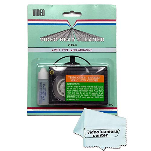 (Video Camera Recorder VHS-C Wet Head Cleaner with Cleaning Fluid + VCC113 Micro-Fiber Cloth)