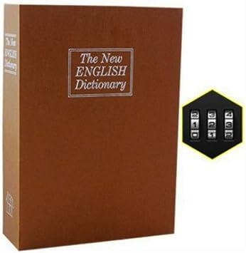 Diccionario Mini Caja Money Book Ocultar clave secreta joyería Caja de seguridad Bloqueo de dinero en efectivo de la moneda de almacenamiento Locker regalo del cabrito DHZ002 (Color : Marrón): Amazon.es: Bricolaje