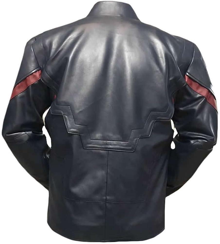 coolhides Mens Fashion Age of Ultron Leather Captain Jacket