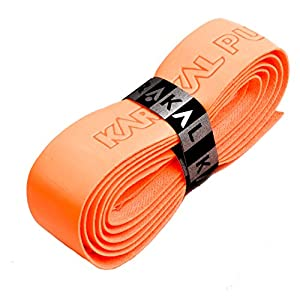 Karakal PU Supergrip replacement racquet grip tennis / badminton / squash fluorescent orange x 1 by Karakal