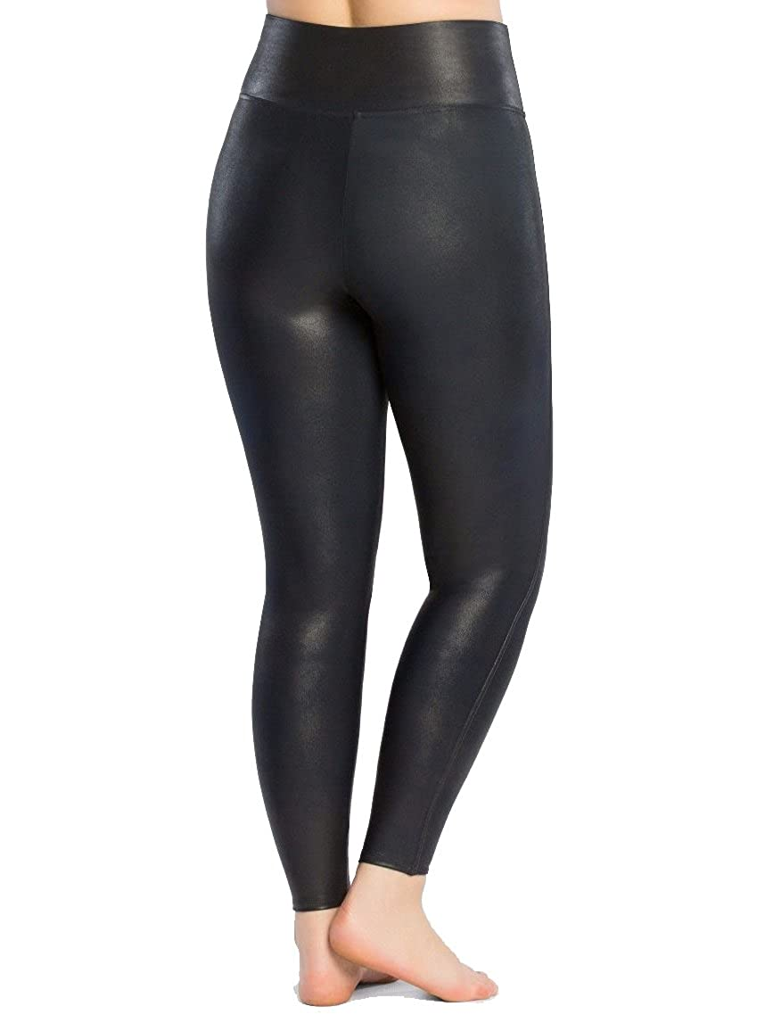 dd9d751407815 SPANX Women's Plus Size Faux Leather Leggings Night Navy 1X 27: Amazon.co.uk:  Clothing