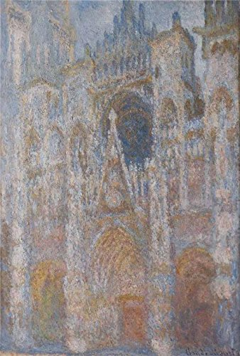 Oil Painting 'Rouen Cathedral, Harmony In Blue, 1893-1894 By Claude Monet', 20 x 30 inch / 51 x 75 cm , on High Definition HD canvas prints is for Gifts And Garage, Kids Room And Nursery Decoration