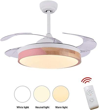 Ventilador de techo, luz de techo de acrílico Led ventilador ...