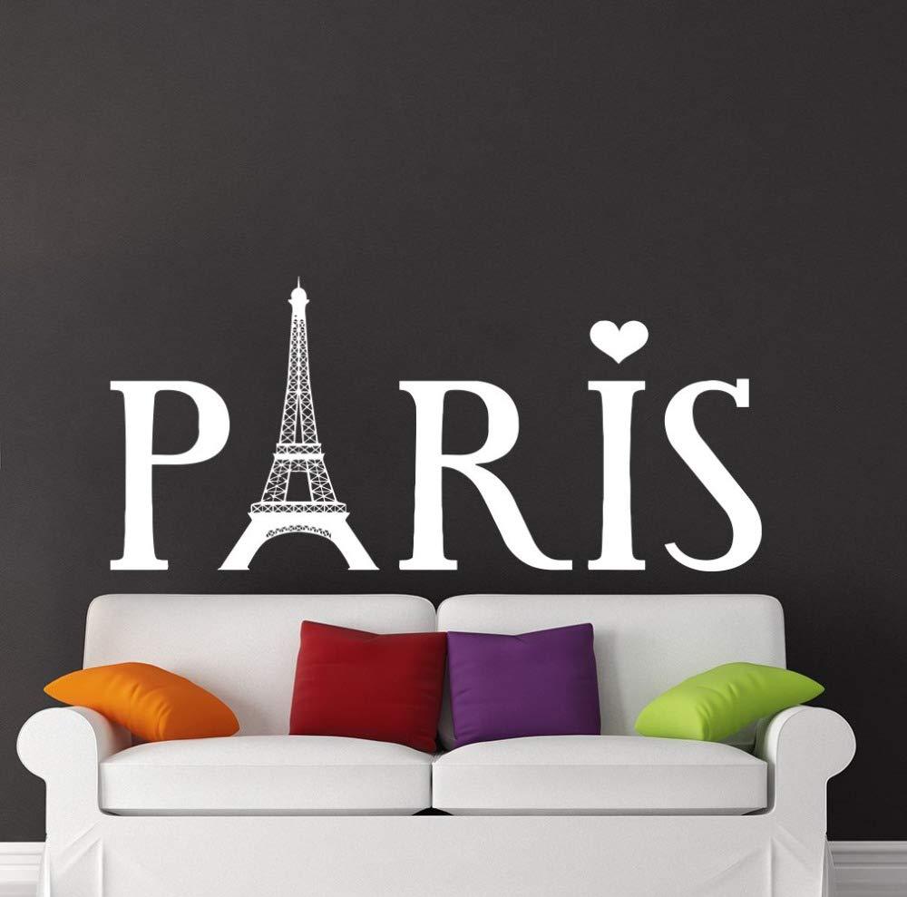 Apliques Torre Eiffel extraíble Tatuajes de Pared de la Silueta de ...