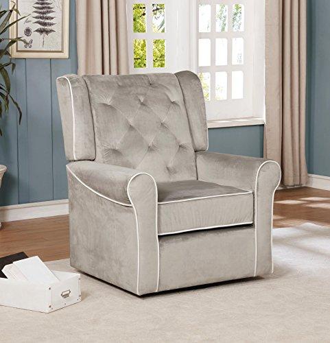 (Naomi Home Sophia Swivel Chair Gray/Microfiber)