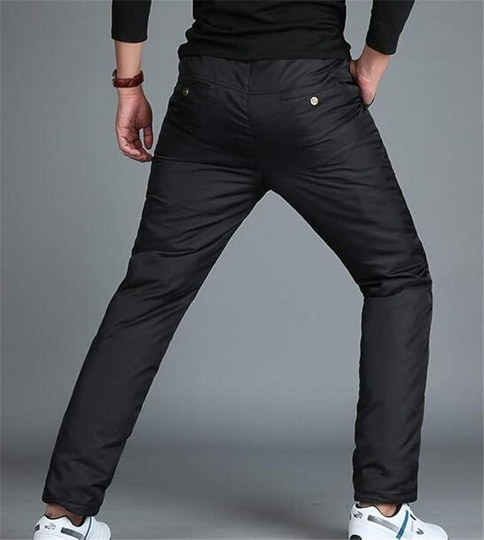 BLTR Men Winter Packable Thermal Compressor Casual Windproof Down Pants