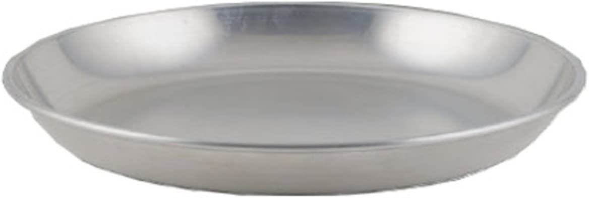 Winco ASFT-16, 160-Ounce Brushed Aluminum Round Serving Seafood Platter Tray