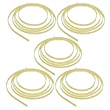 Kmise 5pcs Celluloid 5 Feet Guitar Binding Purfling Strip 1650 x 6 x 1.5 mm Cream