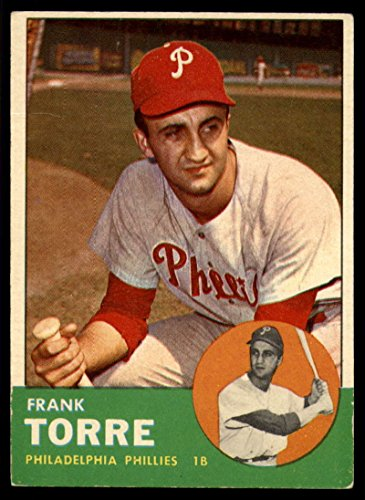 Baseball MLB 1963 Topps #161 Frank Torre VG Very Good Phillies