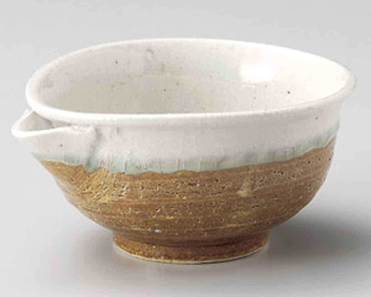 Iga White Nagashi 5.5inch Set of 10 Small Bowls Beige Ceramic Made in Japan