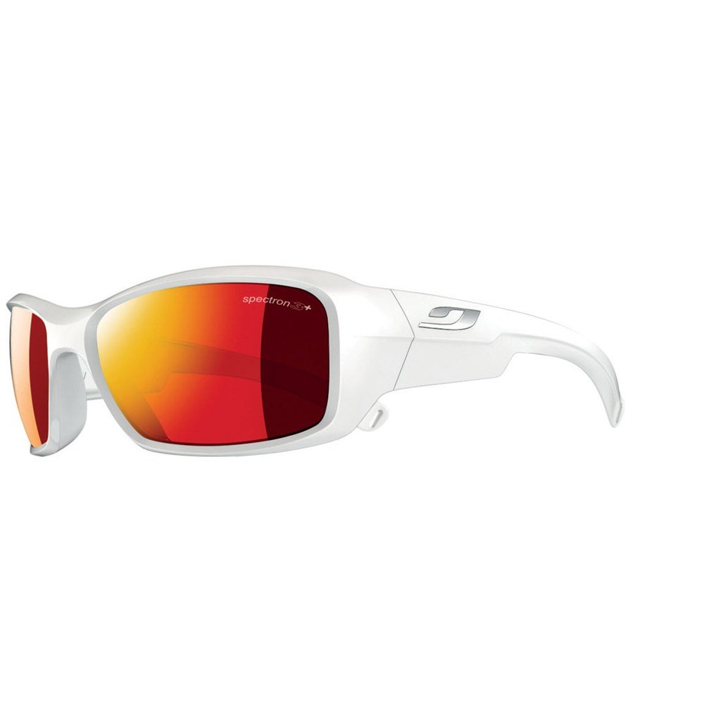 Julbo Kid's Rookie Sunglasses with Spectron 3+ Lens, Shiny White, 8-12 Years