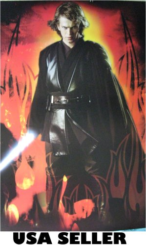 Skywalker Poster - Anakin Skywalker light sabre POSTER 23.5 x 34 Star Wars episode 1 Jedi era (sent FROM USA in PVC pipe)