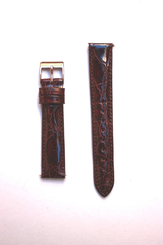 16 mm Brown Genuine Crocodile withクイックリリースピンfor Micheleスタイル  B004ZSEEJ6