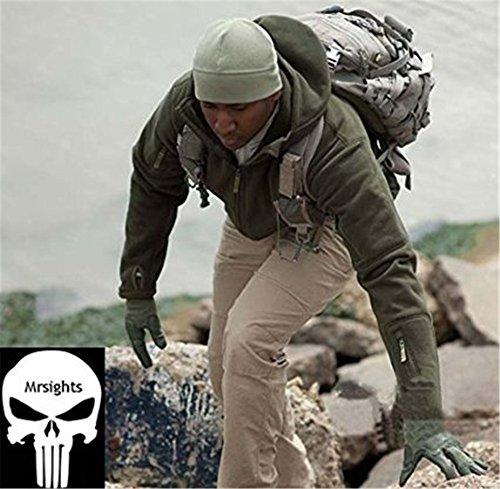 Noga Herren Outdoor Jagd Camping-Hoodies Warm Mäntel Jacke Hoody (S, grau)