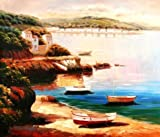Oil Painting 'Boats On Canvas', 30 x 35 inch / 76 x 89 cm , on High Definition HD canvas prints is for Gifts And Home Office, Powder Room And Study Room Decoration, wall artwork
