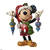 Jim Shore for Enesco Disney Traditions by Santa Mickey Mouse Figurine, 5''
