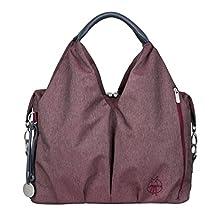 Lassig Green Label Neckline Style Diaper Bag Stylish Shoulder Bag Ecoya includes Changing Mat, Bottle Holder and Stroller Hooks, Burgundy Red