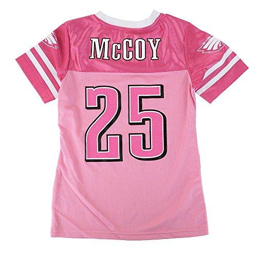 Outerstuff LeSean McCoy NFL Philadelphia Eagles Mid Tier Replica Pink Jersey Girls ()