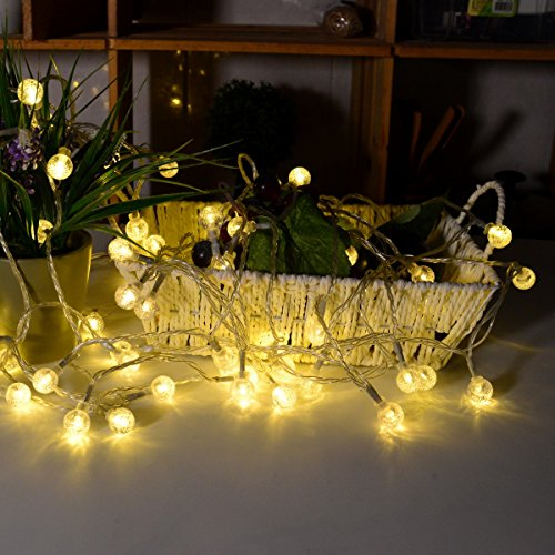 Mopao 33Ft Globe String Lights, 80 LED Decorative String Lights, Waterproof Fairy Lights with Timer Remote Control for Indoor/Outdoor Commercial,Wedding,Patio,Garden (Warm White)