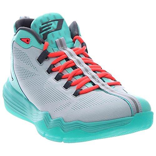 Jordan Nike Men's CP3.IX AE Pr Pltnm/Drk Gry/Hypr TRQ/Infr Basketball Shoe 12 Men US (Basketball Shoes Jordan Cp3)